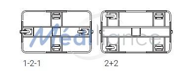 positionnement roues 1-2-1 ou 2+2