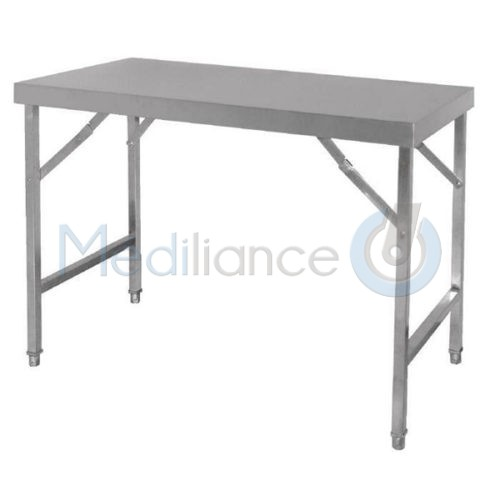 table rabattable en acier inoxydable mediliance. Black Bedroom Furniture Sets. Home Design Ideas