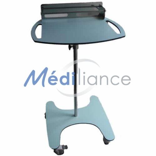 Chariot informatique médical hauteur réglable