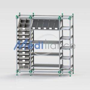 système modulaire avec étagères