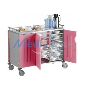 chariot gastronorme 3 compartiments portes framboises