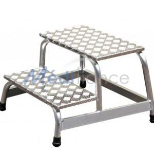 Marchepieds 2 marches entièrement en Aluminium, amagnétiques, compatibles avec les salles équipées d'IRM jusqu'à 3T.