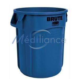 collecteur poubelle 121 litres bleu