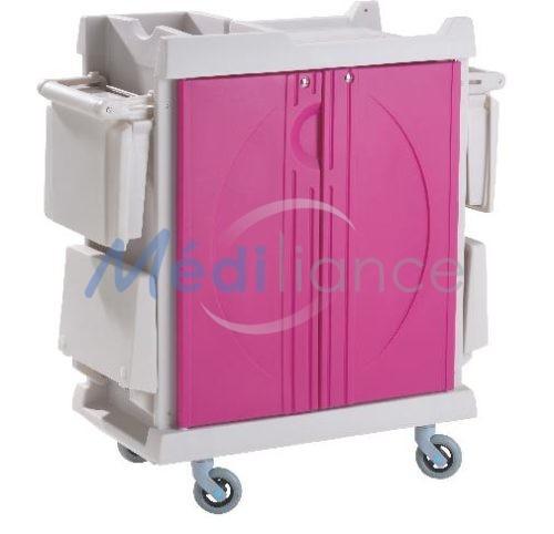 chariot de change composite portes roses