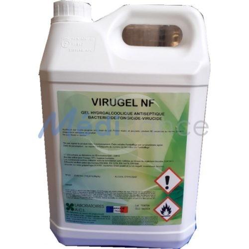 Bidon de gel hydroalcoolique virugel